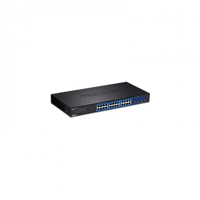 Trendnet - Teg-30284 Managed Gigabit Ethernet (10/100/1000) Switch 1U Black