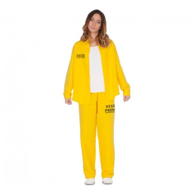 Yellow convict costume for women