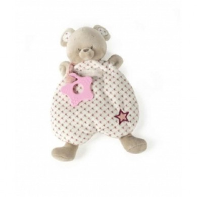 This wonderful Doudou includes a pink morderor.