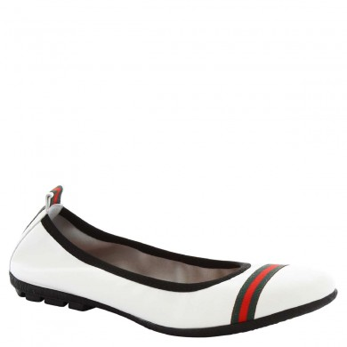 Dancers from hand-made woman in white leather 5618 G / SOSIA NAPPA BIANCO